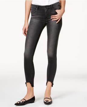 Articles of Society Stephanie Frayed Step-Hem Skinny Jeans