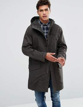 French Connection Parka Trench In Waxed Canvas