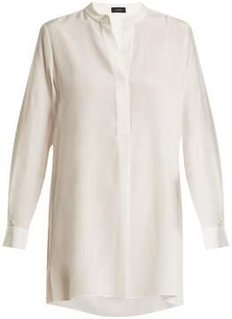 Joseph Lara stand-collar silk crepe de Chine shirt