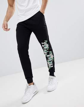 Asos DESIGN Skinny Joggers With Floral Print