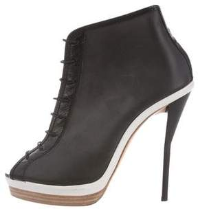 3.1 Phillip Lim Lace-Up Peep-Toe Booties