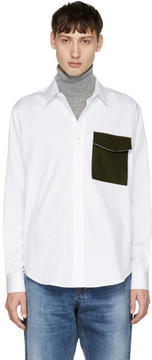 Ami Alexandre Mattiussi White Large Pocket Shirt