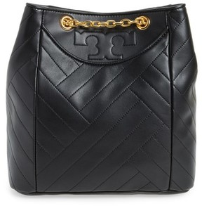 Tory Burch Alexa Leather Backpack - Black - BLACK - STYLE