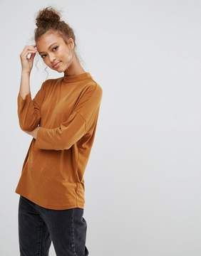 B.young High Neck Dropped Sleeve Top