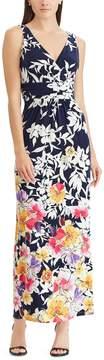 Chaps Petite Floral Surplice Maxi Dress