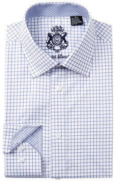 English Laundry Windowpane Trim Fit Dress Shirt