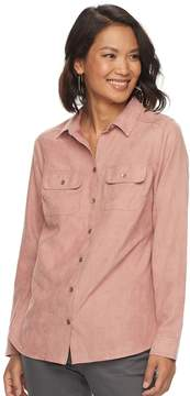 Croft & Barrow Women's Faux Suede Shirt