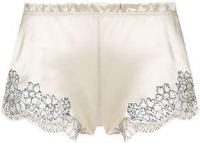 Carine Gilson Lace Trim Shorts