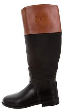 Ralph Lauren Logo Riding Boots