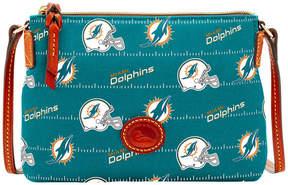 Dooney & Bourke Miami Dolphins Nylon Crossbody Pouchette - AQUA - STYLE
