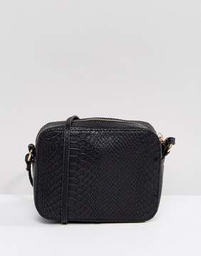 Asos Snake Effect Cross Body Camera Bag