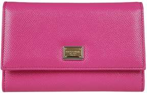 Dolce & Gabbana Dauphine Snap Wallet - ROSA - STYLE