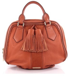 Burberry Pre-owned: Hedwig Bowler Bag Leather With Suede Large. - ORANGE - STYLE