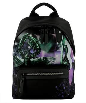 Lanvin Men's Black Fabric Backpack.