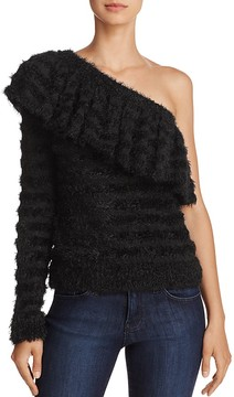 WAYF One-Shoulder Ruffle Sweater - 100% Exclusive