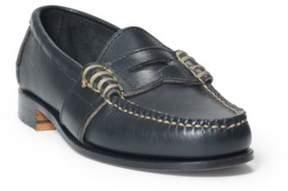 Ralph Lauren Edric Calfskin Penny Loafer Black 3.5
