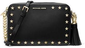 MICHAEL Michael Kors Ginny Medium Studded Camera Bag - BLACK - STYLE