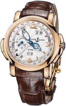 Ulysse Nardin GMT Perpetual Silver Dial Alligator Leather Automatic Men's Watch
