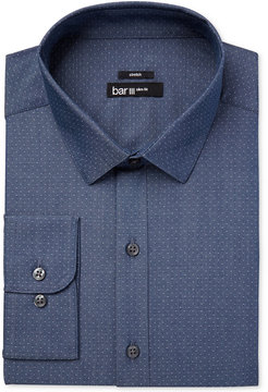 Bar III Men's Slim-Fit Stretch Micro Dot Dress Shirt, Created for Macy's