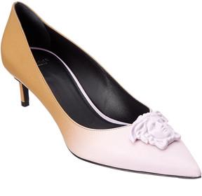Versace Palazzo Gradient Leather Kitten Heel Pump