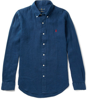Polo Ralph Lauren Slim-Fit Button-Down Collar Linen Shirt