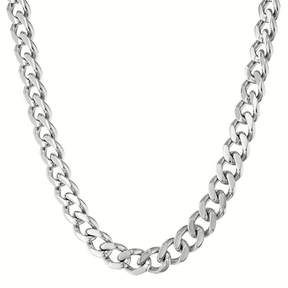 JCPenney FINE JEWELRY Mens Stainless Steel 24 12mm Chunky Curb Chain