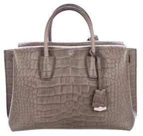 MCM Embossed Handle Bag