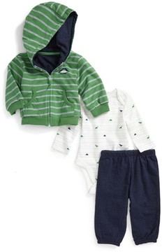 Little Me Infant Boy's Dino Hoodie, Bodysuit & Pants Set