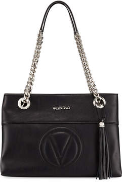 Mario Valentino Valentino By Karina Sauvage Leather Tote Bag