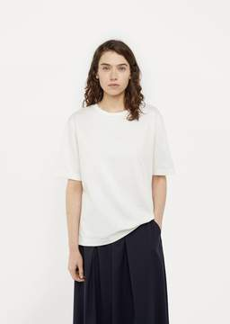Blue Blue Japan Unisex Glossy Half Sleeve Top White Size: Medium