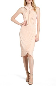 Cupcakes And Cashmere Women's Wales Velvet Halter Dress