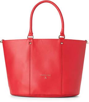 Patrizia Pepe Matte Red Leather Satchel