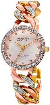 August Steiner Womens Two Tone Strap Watch-As-8190tri