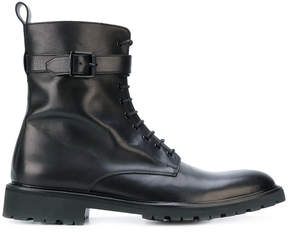 Belstaff lace up buckle boots