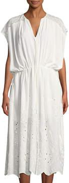 Astr Embroidered Caftan Dress
