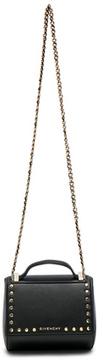 Givenchy Mini Studded Chain Pandora Box in Black.