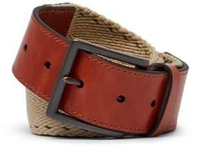 Tommy Bahama Contrast Stitch Webbed Leather Belt
