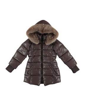 Mayoral Sparkling Quilted Jacket, Size 8-16