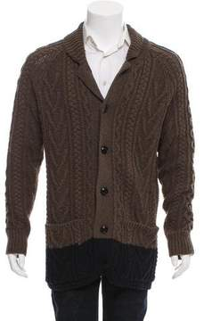 Marc Jacobs Two-Tone Wool Cardigan