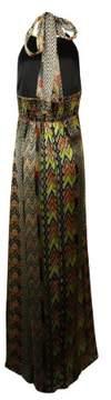 Jessica Simpson Women's Shirring Printed Halter Dress (10, Paiute Poinsettia)