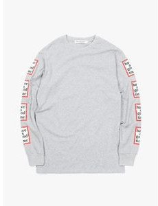 Have A Good Time Arm Frame L/s Tee - Heather Grey