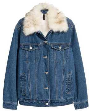 H&M Pile-lined Denim Jacket