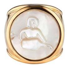 Asha Women's Zodiac Mother-Of-Pearl Ring