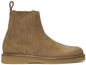 Saint Laurent Brown Suede Creeper Chelsea Boots