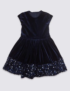 Marks and Spencer Sequin Velvet Dress (1-10 Years)