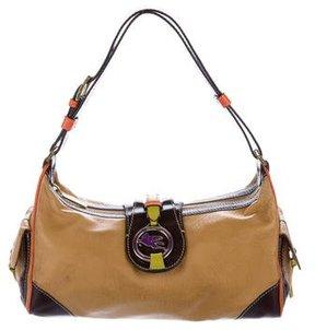 Etro Embossed Leather Shoulder Bag
