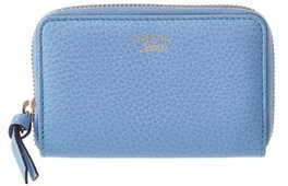 Gucci Blue Leather Swing Card Case. - BLUE MULTI - STYLE