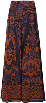 Circus Hotel flared maxi trousers