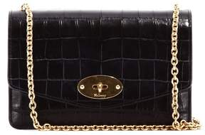 Mulberry Small Darley Croc Black