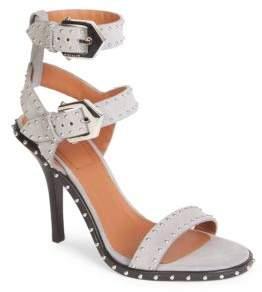 Givenchy Embellished Suede Ankle-Strap Sandals